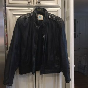 Tannery West lightweight men's leather bomber